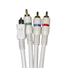 3 RCA Component Coaxial AND Optical Combo Cable