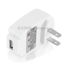USB Mini Wall Travel Charger Adapter For Apple iPhone iPod MP3 Zune Creative Zen