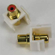 RCA Red F/F Keystone Module White
