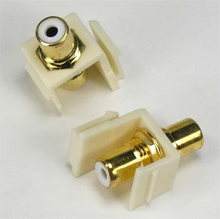 RCA White F/F Keystone Module Ivory