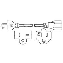 nema 20 amp straight blade cords