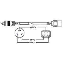 nema l6 30p to iec320 c19 20a 15 gauge 12 wires 3 jacket
