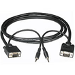 Regular SVGA Monitor Cables with Audio Plug