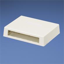Mini-Com Surface Mount Box (White 6 port)