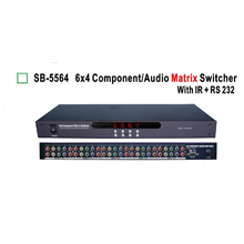 6:4 ShinyBow Component Video + Analog Audio Matrix Switch