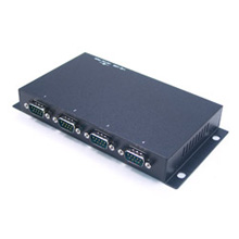 Industrial 4-Port RS-232 to USB 2.0 High Speed Converter With Surge & Isolation