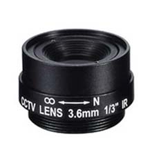 3.6mm 1 Megapixel Fixed Iris F1.8 1/3 CS Mount Lens
