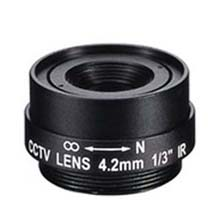 4.2mm 1 Megapixel Fixed Iris F1.8 1/3 CS Mount Lens