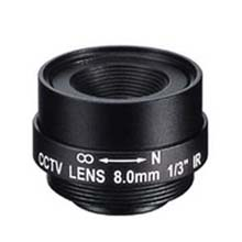 8.0mm 1 Megapixel Fixed Iris F1.8 1/3 CS Mount Lens