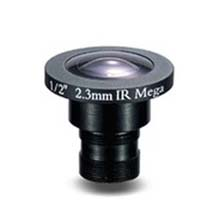 2.3mm 2 Megapixel Fixed Iris F2.0 1/2 Board Lens