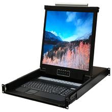"""19″"""" 1U RackMount 16 Ports KVM Console LCD KVM-19E16"""