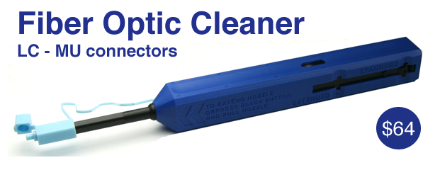 Fiber Optic Cleaner for LC and MU Connectors