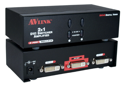 2x1 2Port DVI UXGA Digital Video Share Switcher