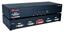 4x1 4Port DVI UXGA Digital Video Share 1U Rack Mountable Switcher
