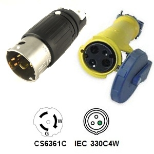 CA Standard CS6361 to 330C4W Plug Adapter
