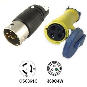 CA Standard CS6361 to 360C4W Plug Adapter
