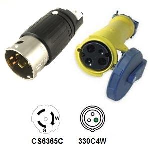 CA Standard CS6365C to 330C4W Plug Adapter