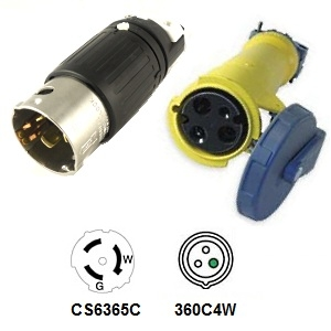 CA Standard CS6365C to 360C4W Plug Adapter