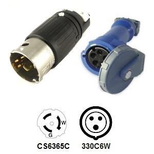 CA Standard CS6365C to 330C6W Plug Adapter
