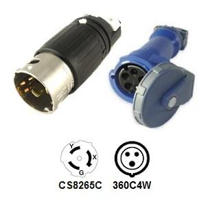 CA Standard CS8265C to 360C6W Plug Adapter