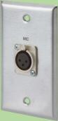 3 Pin XLR Female Solder Type Stainless Steel WallPlate