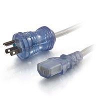 12ft 16 AWG Hospital Grade Power Cord (NEMA 5-15P to IEC320C13) - Gray