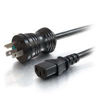 6ft 16 AWG Hospital Grade Power Cord (NEMA 5-15P to IEC320C13) – Black