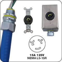 Nema 15 Amp Locking Whips