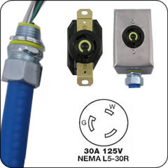 Nema 30 Amp Locking Whips