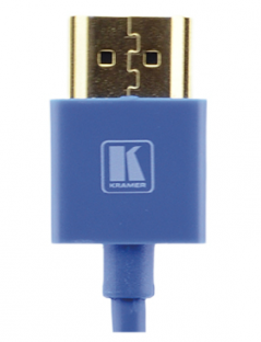 6 Feet Ultra Slim High-Speed HDMI Flexible Cable with Ethernet - Blue