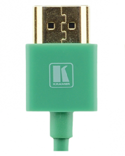 6 Feet Ultra Slim High-Speed HDMI Flexible Cable with Ethernet - Green