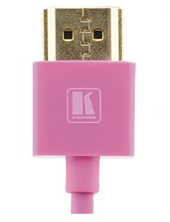 6 Feet Ultra Slim High-Speed HDMI Flexible Cable with Ethernet - Pink