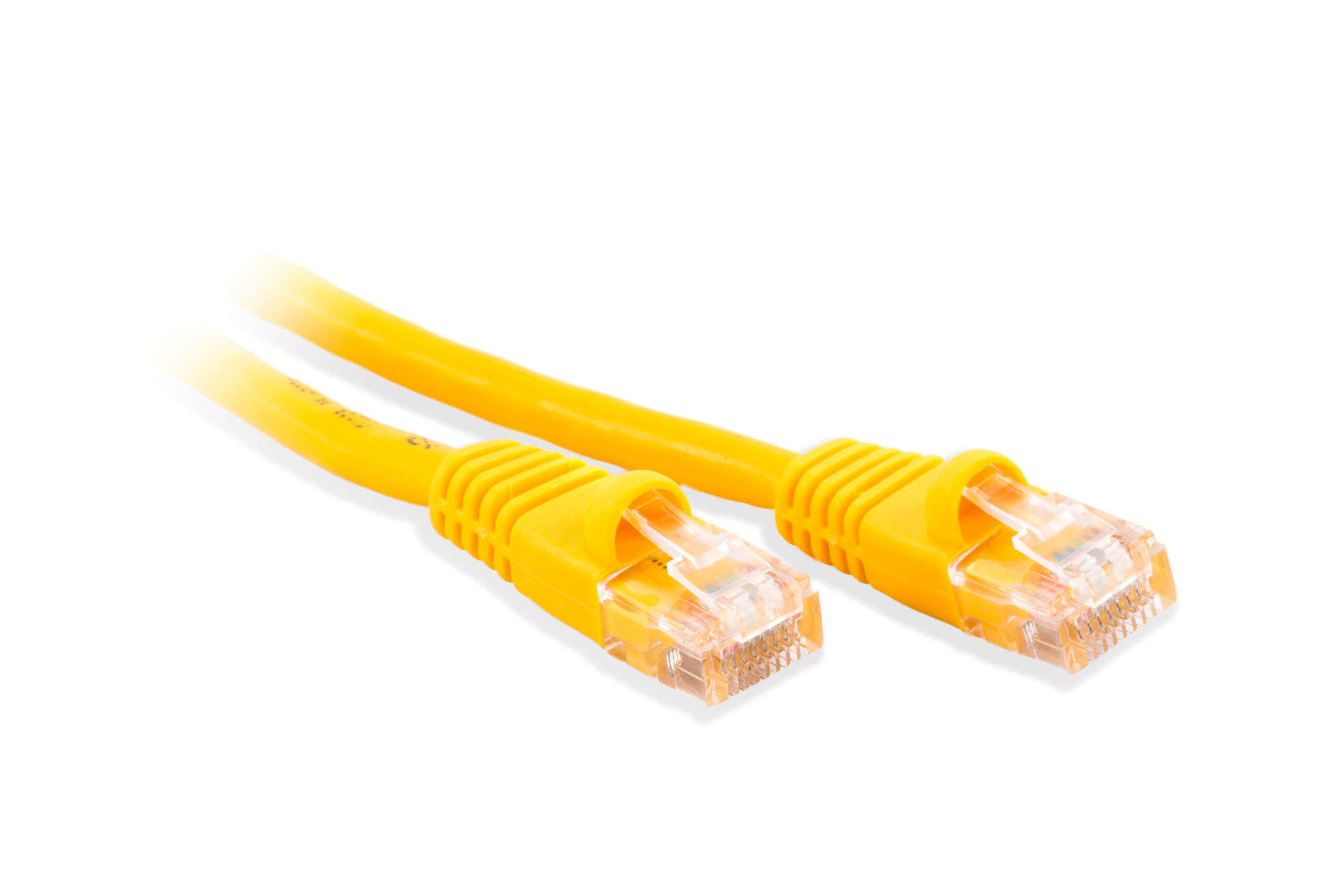 Twenty Five Foot 25 Yellow Cat5E Molded Snagless Boot 350MHz RJ45 Network Patch Cable
