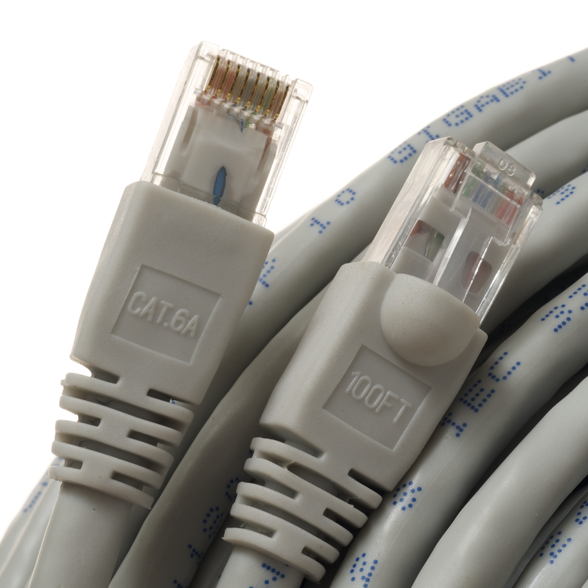 Category 6A Grey Network Cables