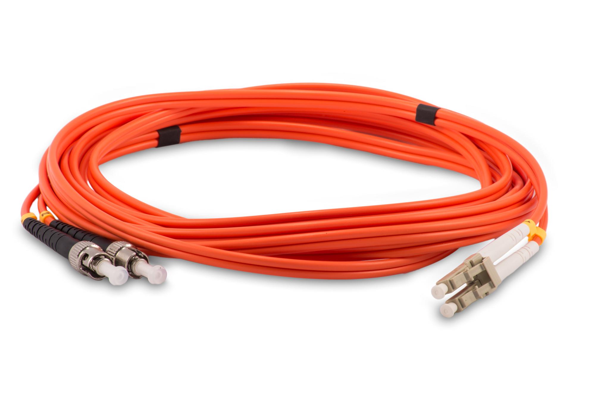 Duplex MultiMode 62.5u/125 LC/SC Fiber Optic Patch Cable 1 Meter