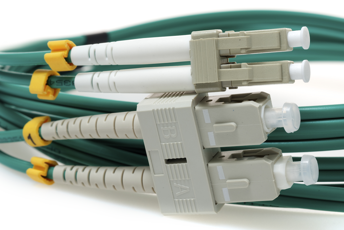 50 Micron LC to SC Green Jacket Fiber Cable