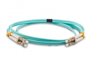 LC to LC 40GB OM4 Riser Aqua Fiber Cables