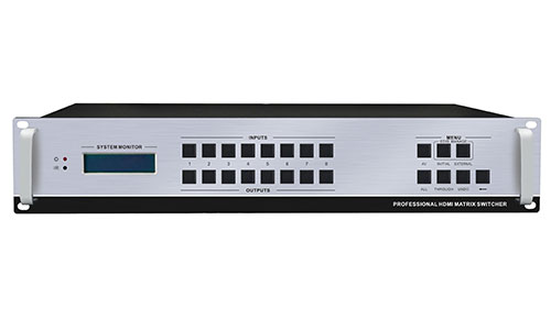 Professional HDMI 8×8 Matrix Switcher with RS-232