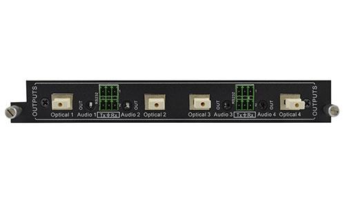 4-Output Fiber Optic card for Modular matrix