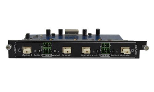 4-Input Fiber Optic card for Modular matrix