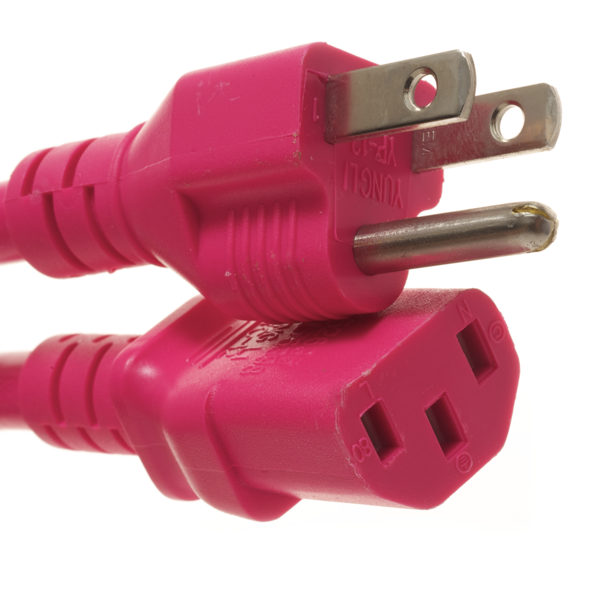 5-15P TO C13  PC to AC Outlet 15 Amp Power Cord- Pink