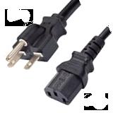 NEMA 6-15P to IEC320 C13 - 15A - 6