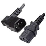 C14 to C13 Cords with Angled Plugs and Connectors