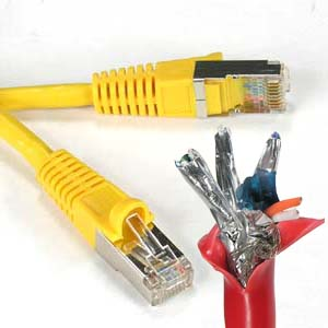 100Ft Cat.6 Shielded Patch Cable Molded Yellow