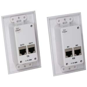 Hdmi Over Cat5E / Cat6 Extender Wall Plate (Pair) Single