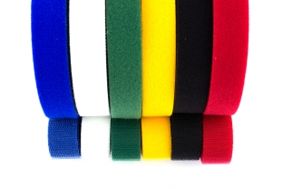 25 Yard 3/4 inch wide Velcro Cable Ties Roll - Choose your Color ...