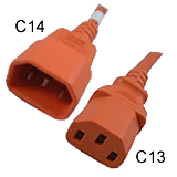 C14 to C13 Orange 15 Amp