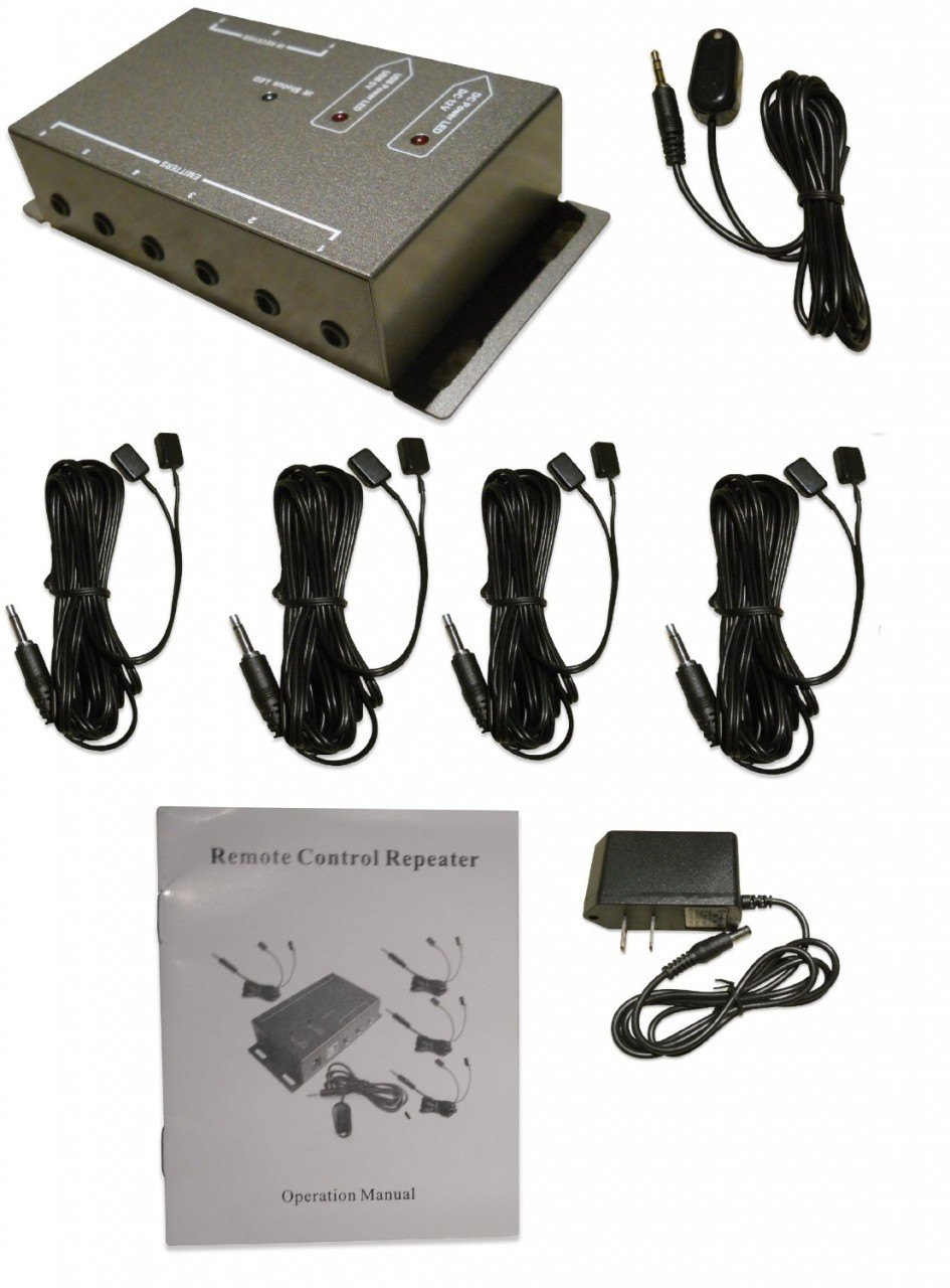 IR Repeater - Remote control extender Kit - Operate multiple devices!
