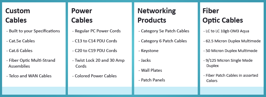 Cables | HDMI Cables, Power Cords, Ethernet Cables, Fiber Optic