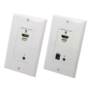 HDMI over CAT6 Extender Wall Plate (Pair) - Single Port (1P)